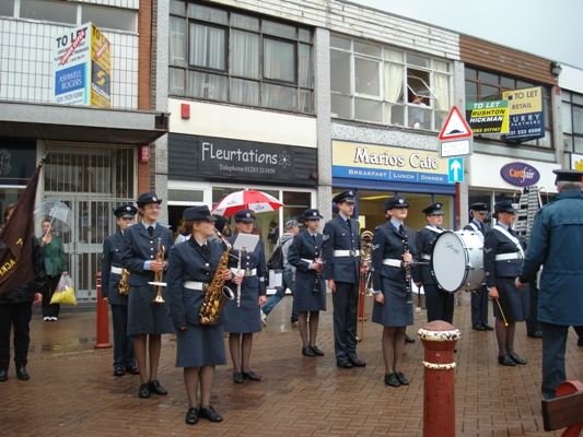 The very smartly turned out band of 1211 (Swadlincote Squadron air Cadets