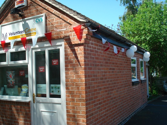 The Volunteer Centre South Derbyshire decorated for Volunteers Week 2009
