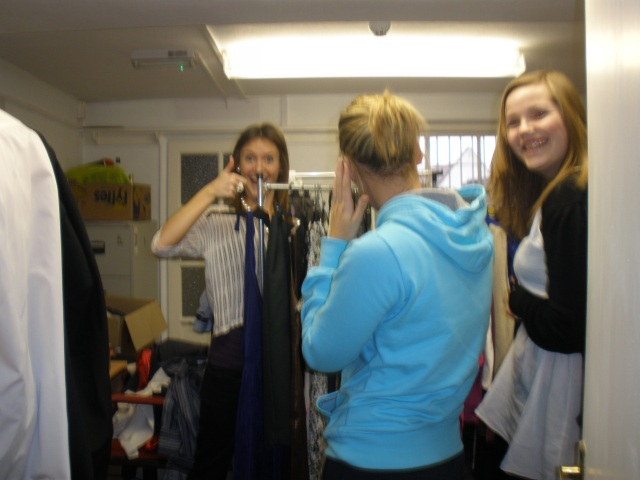 Preparation of the clothes under way at South Derbyshire CVS